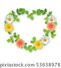 꽃과 잎 _ 하트 프레임 53638978