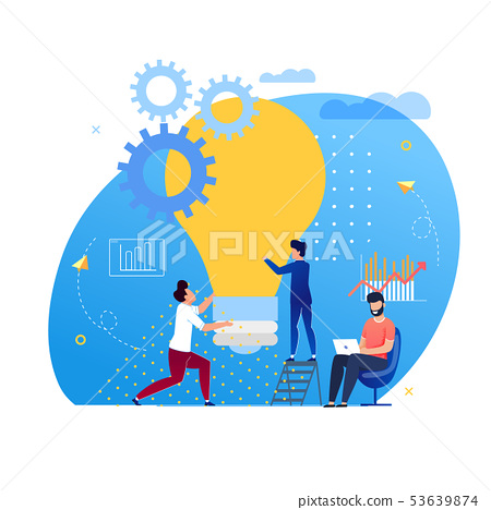 Office Situation Support for Ideas Cartoon Flat. 53639874