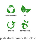 Biodegradable and compostable concept reduce reuse recycle vector illustration 53639912