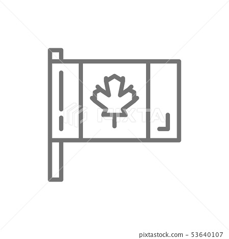 Flag of Canada line icon. 53640107
