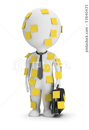 3d small people - stick notes 53640435