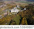ruins castle on rock in Ogrodzieniec, Poland 53640667