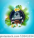 夏天 夏 矢量 53641034