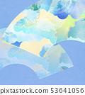 背景 - 日式日式 - 日式 - 日式紙 - 夏風扇 - 淺藍色 53641056
