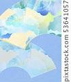 背景 - 日式日式 - 日式 - 日式紙 - 夏風扇 - 淺藍色 53641057