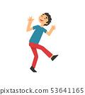 Cute Smiling Happy Boy Having Fun Cartoon Vector Illustration 53641165