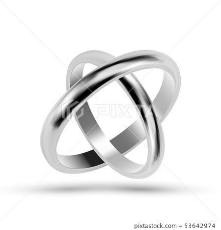 Silver Or Platinum Jewelry Wedding Rings Vector Stock Illustration 53642974 Pixta