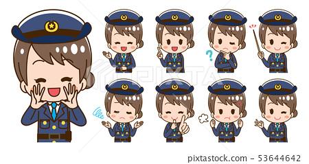 女性警察例證集合 53644642
