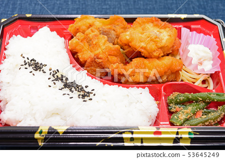 Delicious fried chicken lunch box 53645249