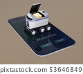 ภาพของหุ่นยนต์ส่งมอบในสมาร์ทโฟน แนวคิดล่าสุดหนึ่งไมล์ 53646849