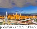 Bangkok, Thailand at the Temple of the Emerald 53649472