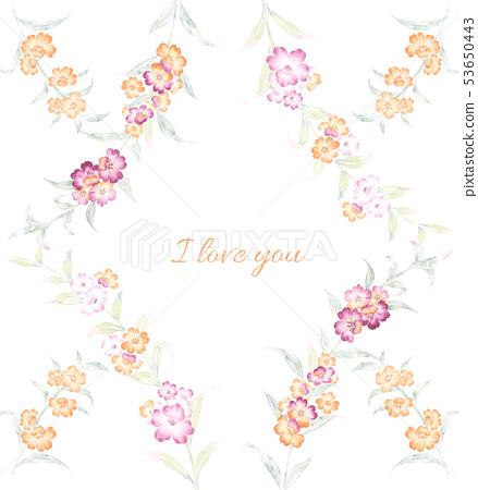 美麗的水彩小花和意境組合 53650443