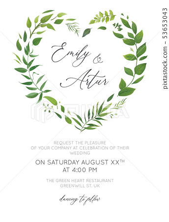Wedding Invitation Floral Invite Card Design Stock