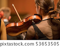Violinist player during a classical concert music 53653505