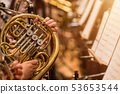 french horn during a classical concert music 53653544