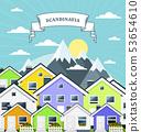 Small village in Norway, Scandinavia - variegated 53654610