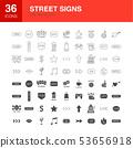 Street Line Web Glyph Icons 53656918