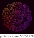 Street Line Icon Circle Concept 53656920