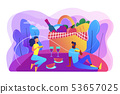 Summer picnic concept vector illustration. 53657025