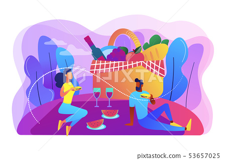 Summer picnic concept vector illustration. 53657025