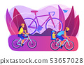 Cycling experiences concept vector illustration. 53657028