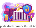 Retirement investments concept vector illustration. 53657032