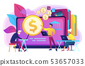 Financial literacy of retirees concept vector illustration. 53657033