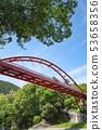 Fresh green split rock bridge 53658356