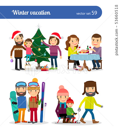 Winter vacation people 53660518