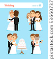 Bride and groom characters 53660737