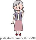微笑奶奶插圖 53665590
