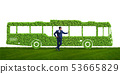 Businessman with green ecological vehicle 53665829