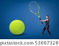 tennis, man, racket 53667328