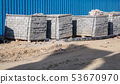 paving slabs packed in stack outdoor 53670970