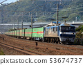 EF210-154 container freight train running on the Tokaido Line 53674737