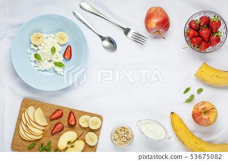 eat, strawberries blueberries, fruit salad, 53675082