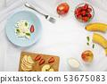 eat, strawberries blueberries, fruit salad, 53675083