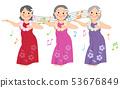 跳舞hula舞蹈的資深婦女 53676849