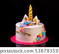Decorative cake on the theme of the Unicorn on the birthday of a girl. 53678359