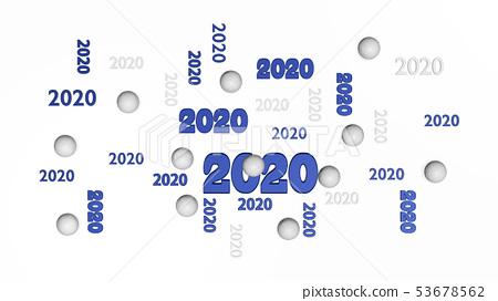 Top View of Several Handball 2020 Designs  53678562