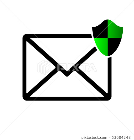 Security email icon illustration material white background 53684248