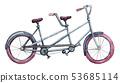 Watercolor tandem bicycle 53685114