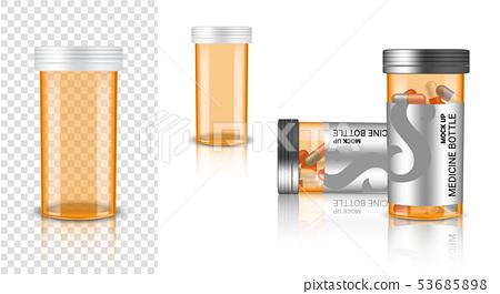 Bottle 3D Mock up Realistic Medicine transparent 53685898