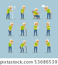 Old man sick icons 53686539