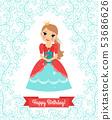 Little Princess happy birthday card 53686626