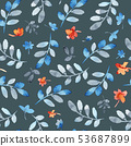 Watercolor floral pattern 53687899