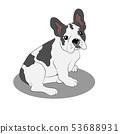 French bulldog puppy illustration 53688931