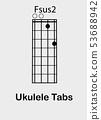 Ukulele chords F sus2 53688942