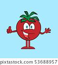 Happy tomato with thumb up 53688957