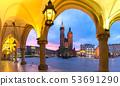 Main market square, Krakow, Poland 53691290
